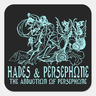 Hades and Persephone Square Sticker