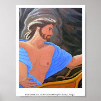 Hades - detalle de la abducción de Persephone Póster