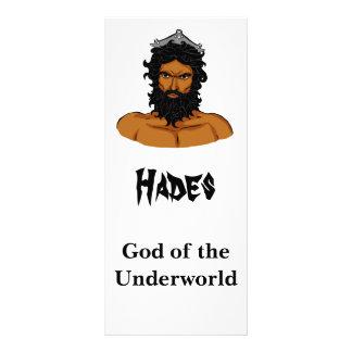 Hades information card customized rack card