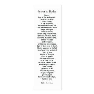 Hades Prayer Card Mini Business Card