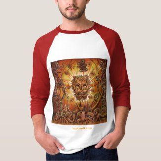 'HADES' - RED Half Sleeve Shirt