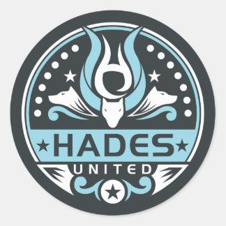 Hades United Logo Navy Blue Classic Round Sticker