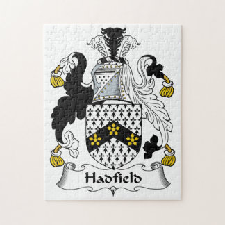 Hadfield Family Crest Jigsaw Puzzles