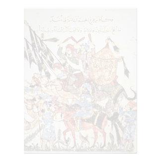 "Hadj (31. Maqamat) By Al-Wâsitâ Yahyâ Ibn Mahmã "" Personalized Letterhead"