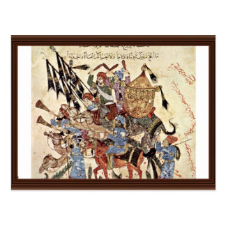 """Hadj (31. Maqamat) By Al-Wâsitâ Yahyâ Ibn Mahmã """" Postcard"""