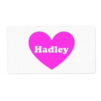Hadley Etiqueta De Envío