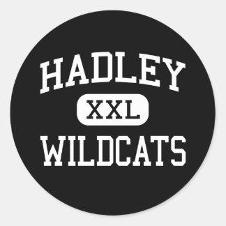 Hadley - gatos monteses - joven - Glen Ellyn Pegatina Redonda