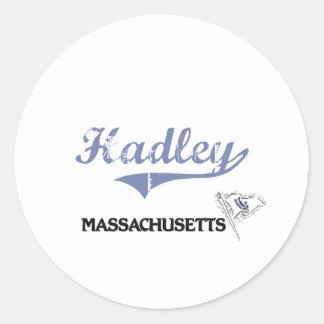 Hadley Massachusetts City Classic Sticker
