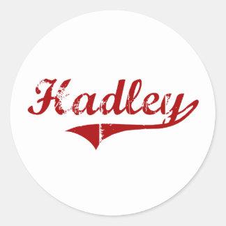 Hadley Massachusetts Classic Design Sticker