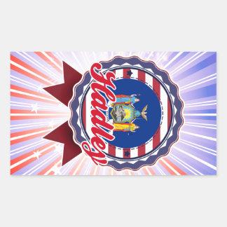 Hadley NY Rectangle Sticker