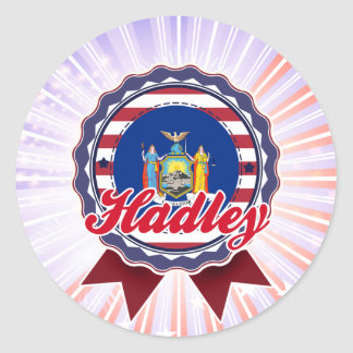 Hadley NY Round Stickers