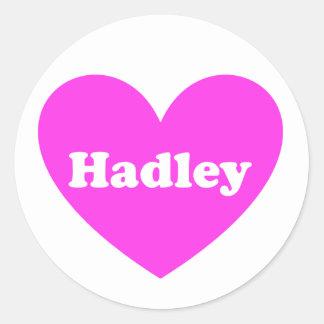 Hadley Pegatina Redonda