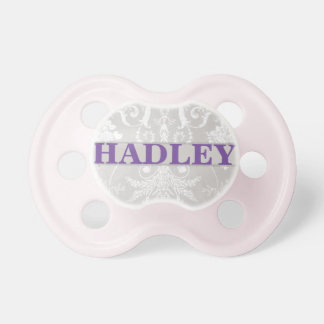 """Hadley"" Personalized Vintage Damask Pacifier"