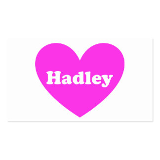 Hadley Tarjetas De Visita