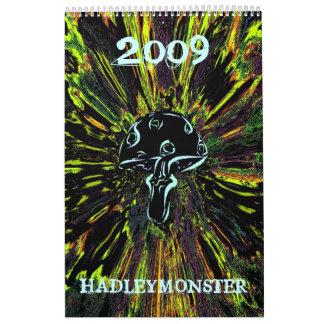 HADLEYMONSTER 2009 MUSHROOMS CALENDAR
