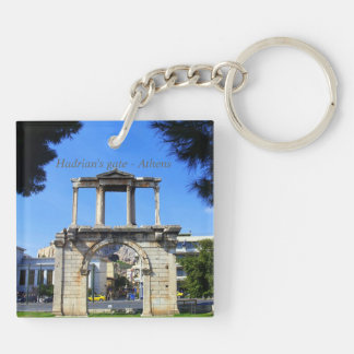 Hadrian s gate - Athens Square Acrylic Key Chain