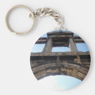 hadrian's arch basic round button keychain