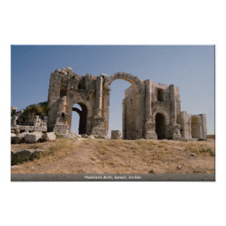 Hadrian's Arch, Jerash, Jordan Poster