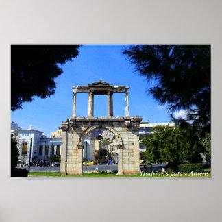 Hadrian's gate - Athens Poster