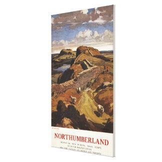 Hadrian's Wall and Sheep British Rail Poster Canvas Print