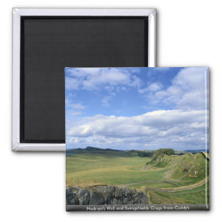 Hadrian's Wall and Swingshields Crags from Cuddy's Fridge Magnet
