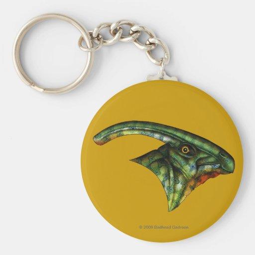 Hadrosaur Round Keychain