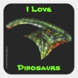Hadrosaur Sqaure Sticker