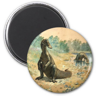 Hadrosaurs by a Lake Refrigerator Magnet