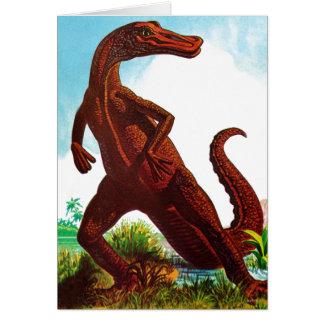 hadrosaurus dinosaur card
