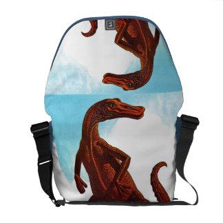 Hadrosaurus Dinosaur Messenger Bags