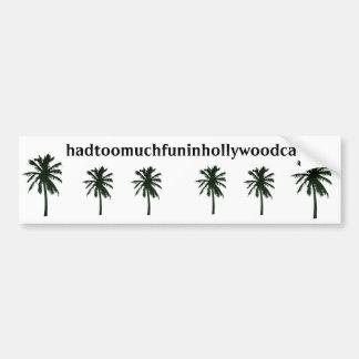 hadtoomuchfuninhollywoodca, palmeras negras pegatina para auto