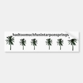 hadtoomuchfunintarponspringsfl, palmeras negras pegatina para auto