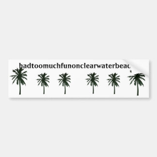 hadtoomuchfunonclearwaterbeachfl, palmeras negras pegatina para auto