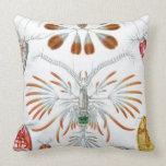 Haeckel Copepoda Throw Pillow