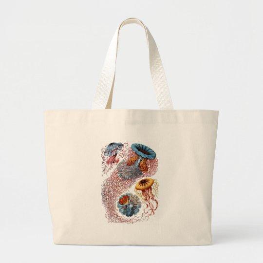Haeckel Jellyfish Large Tote Bag