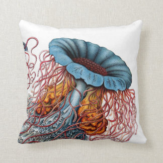 Haeckel Jellyfish Zoomed In Cushions