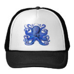 Haeckel Octopus Blue Hats