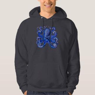 Haeckel Octopus Blue Hoodies