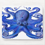 Haeckel Octopus Blue Mouse Pads