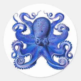 Haeckel Octopus Blue Stickers