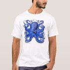 Haeckel Octopus Blue T-Shirt