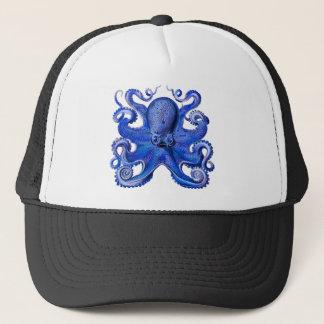Haeckel Octopus Blue Trucker Hat