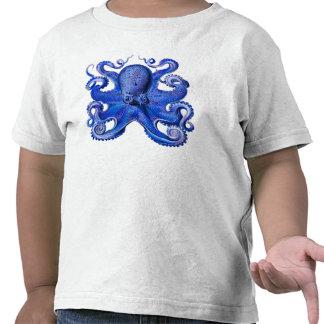 Haeckel Octopus Blue Shirts