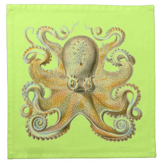 Haeckel Octopus Cloth Napkin