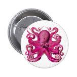 Haeckel Octopus Pink Badge