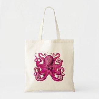 Haeckel Octopus Pink Tote Bag