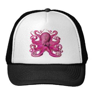 Haeckel Octopus Pink Trucker Hat