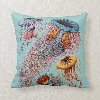 Haeckel Vintage Scientific Illustration Throw Pillow