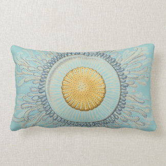 Haeckel vintage sea life lumbar pillow