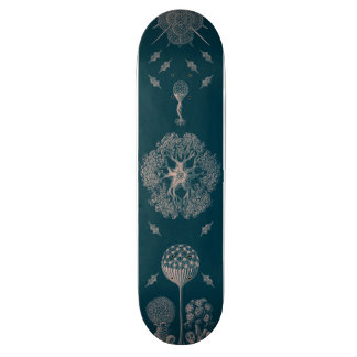 Haeckel's Blue Skateboard Deck